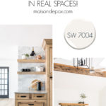SW 7004 Snowbound white paint in real spaces