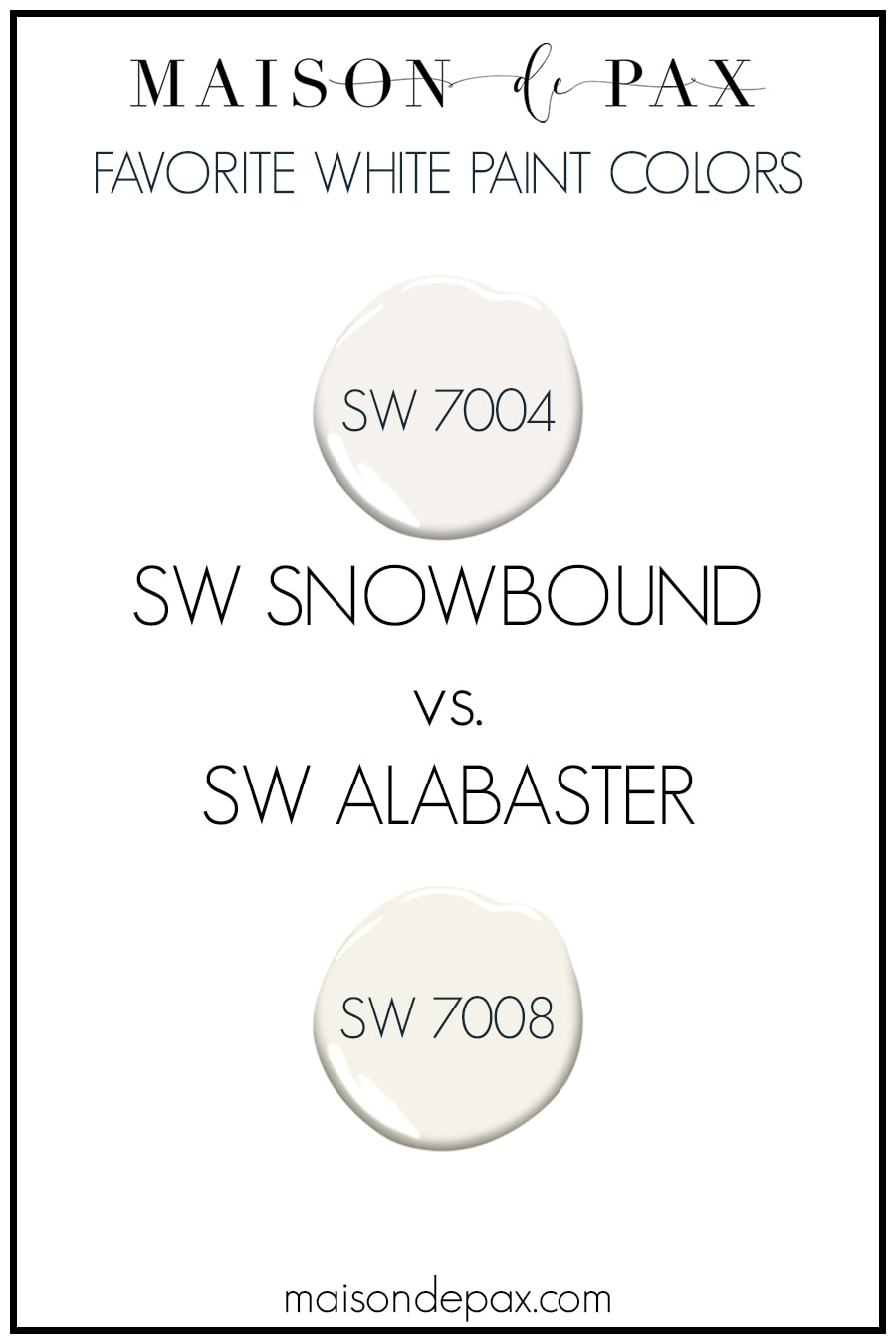 Sherwin Williams Snowbound vs SW Alabaster paint review