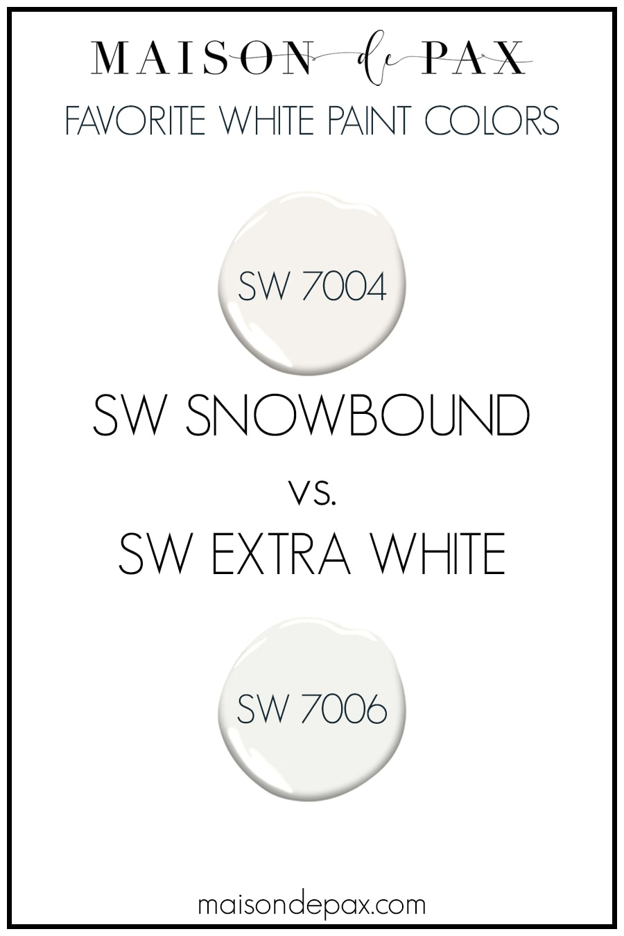 SW Snowmound v SW Extra White