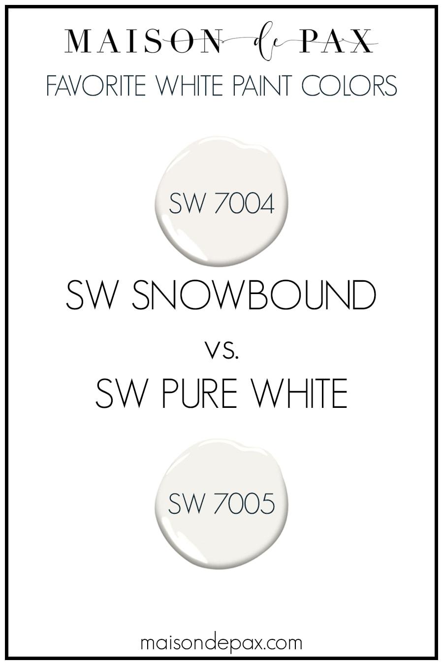 SW Snowbound 7004 vs SW Pure White 7005