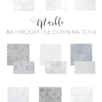 marble bathroom tile combinations with images in real spaces