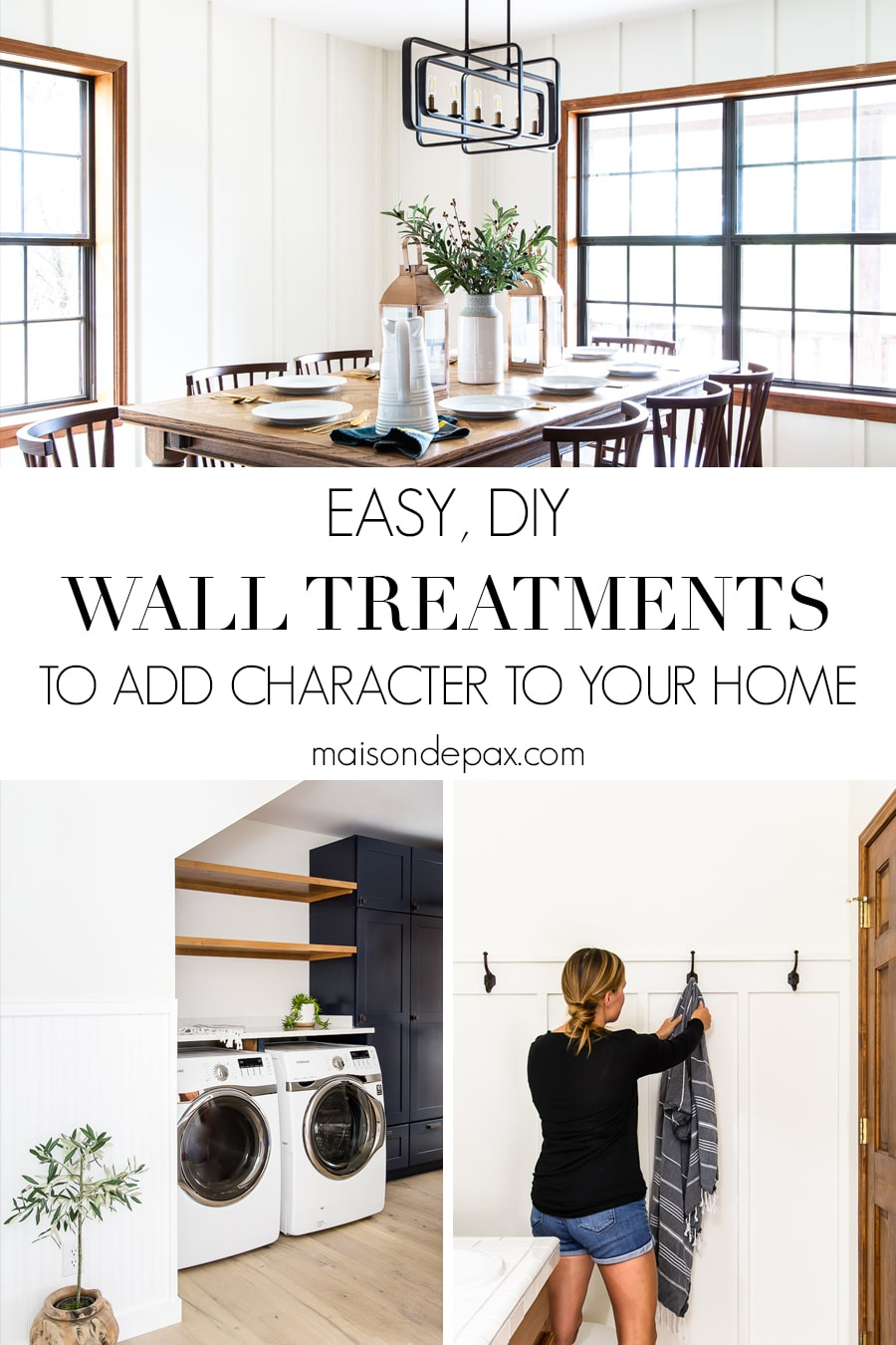 easy diy wall treatments to add character to your home