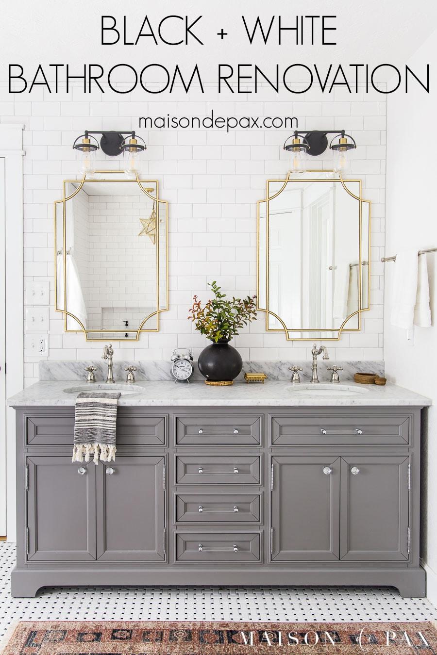 black and white bathroom renovation ideas
