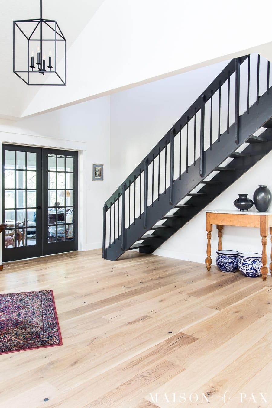 wide plank oak engineered floors with UV oil finish